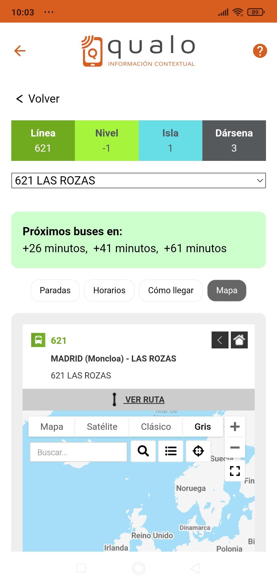 Detalle línea + mapa